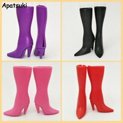 Fashion Doll Shoes High-heel Shoes For Barbie Dolls Boots 1/6 Doll Accessories