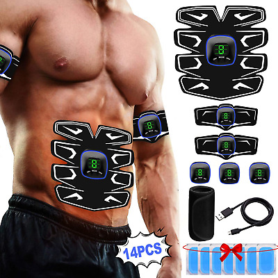 A-TION ABS Stimulator Muscle Toner, Abdominal Toning Belt, USB Rechargeable with