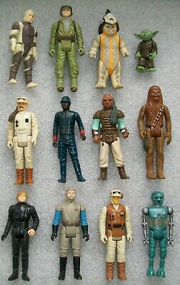 12 Vintage Star Wars figures including Chewbacca and Yoda - Kenner 1977-83