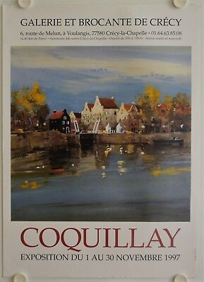 Affiche COQUILLAY 1997 Exposition Galerie de Crécy