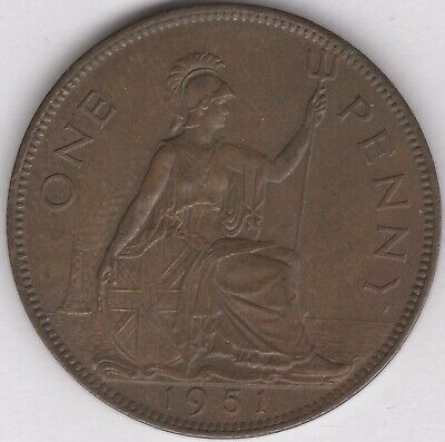 1951 George VI Key Date One Penny   British Coins   Pennies2Pounds