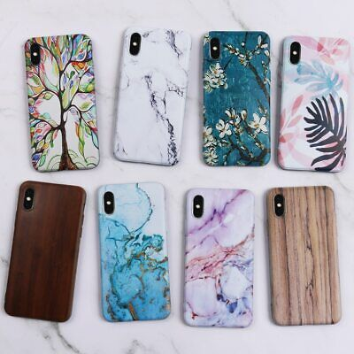 Wood Print Marble Soft Silicone Phone Case Cover for Samsung Galaxy A20 A30 A50