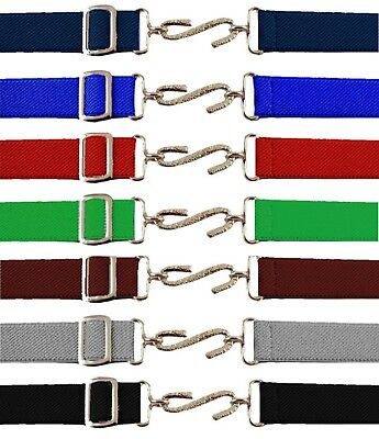New Children's Kids Adjustable Snake Belt Elasticated All Colours Belt 1-10 Yrs