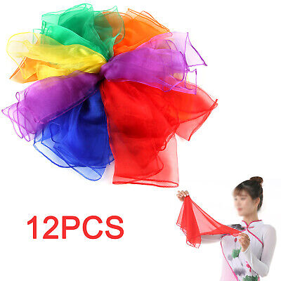 Dance Autism Sensory Toys Juggling Scarves Baby Kids Adults 12-Pack Party Gift