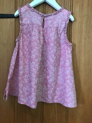Next Girls Pink Summer Top  Age 6yrs In Excellent Condition