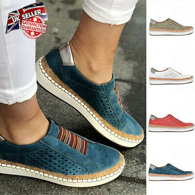 Women Comfy Breathable Pumps Ladies Slip On Trainers Summer Loafers Shoes TIK UK