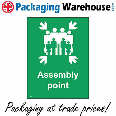 Fire Assembly Point Office Work Factory Sign Fs195 Safety Sticker Rigid