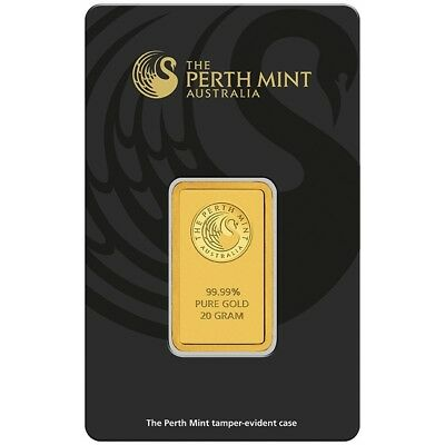 20g Perth Mint Gold Bar (In Assay) Pure Fine Gold Bar - BRAND NEW & SEALED