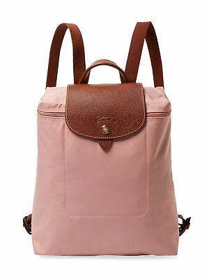 NEW LONGCHAMP Le Pliage Nylon Foldable TRAVEL Backpack PINKY PINK $125 AUTHENTIC