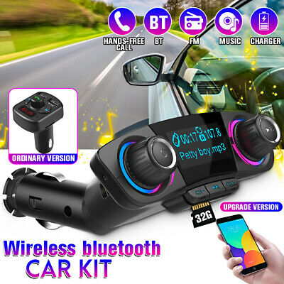 Wireless bluetooth Car Kit FM Transmitter Handsfree MP3 Player Charger USB AUX
