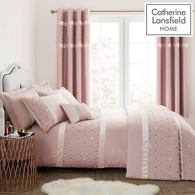 Catherine Lansfield Sequin Cluster Blush Duvet Cover Set or Accessories