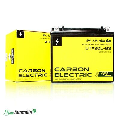 AGM Batterie 12V 18Ah YTX20L-BS Carbon Electric Quad 52014 Motorradbatterie