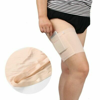 1x Black Anti Chafing Thigh Bands Elastic Non Slip Leg Comfort Running Hot Sale