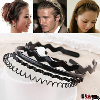 METAL wire HEADBAND football sports gym toothed alice hair head band Mens Boys