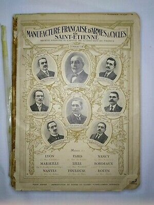 Early 1900s French Bicycle Part Catalog old illustrated