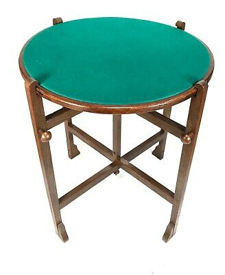 Antique Revertable - Round Folding Occasional And Card Table, England, c1940