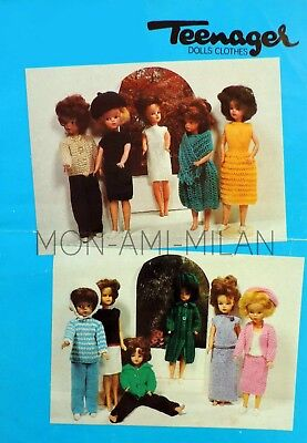 Sindy Barbie Knitting Pattern Photocopy Dolls Clothes Lots of Outfits Suits Etc