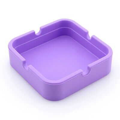 Creative Square Silicone Ashtray Shatter-resistant High Temperature Cheap Useful