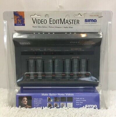 SIMA Video EditMaster Plus Editor Picture Enhancer Audio Mixer w/ All Cables NEW