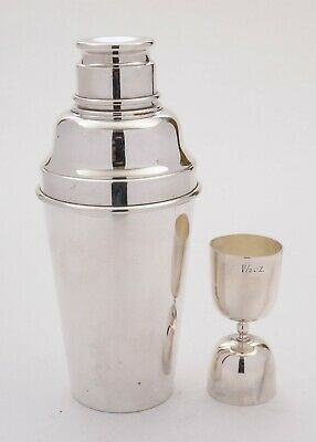 Superb Art Deco Silver Plated Cocktail Shaker With Measure