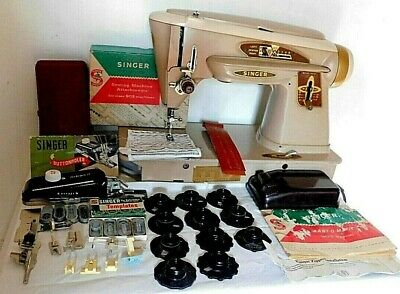 Singer 503A vintage sewing machine heavy duty gear driven-serviced leather+(n40)