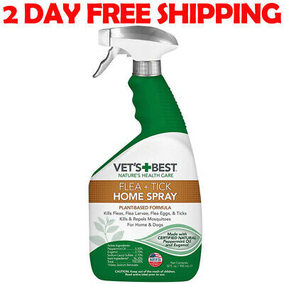 Vet's Best Flea and Tick Home Spray | Flea Treatment for Dogs and Home