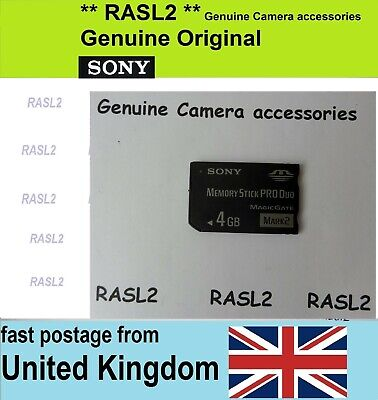 Genuine SONY Memory Stick Pro Duo 4GB Memory Card For Digital Camere /  PSP