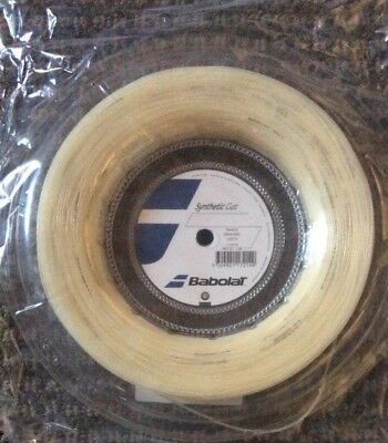 Babolat Synthetic Gut Tennis String Reel Natural 16G 1.30mm 660ft 200m