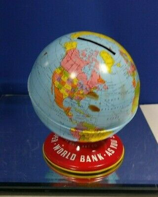 Collectible World Globe Bank The Ohio Art Co. Made In U.s.a.