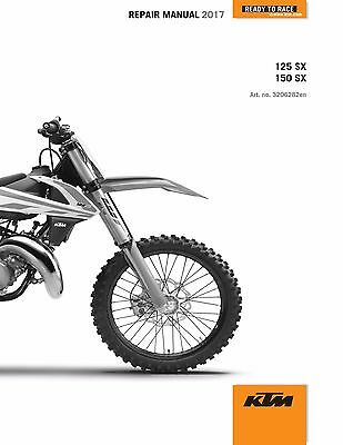 KTM Service Workshop Shop Repair Manual Book 2017 150 SX