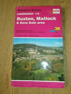 Buxton, Matlock and Dove Dale Area by Ordnance Survey (Sheet map, folded, 1989)