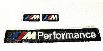 BMW M/SPORT BLACK PERFORMANCE Car INT/EXT Sticker PLUS FREE X2 M/SPORT BADGE'S