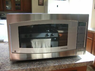Ge 2 Cu Ft 1 200 Watt Countertop Microwave Stainless Steel