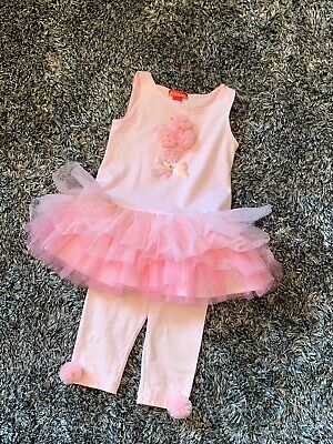 Excellent Condition - Kate Mack Pink Ice Cream Tutu 2 Piece Set - Age 4 Years