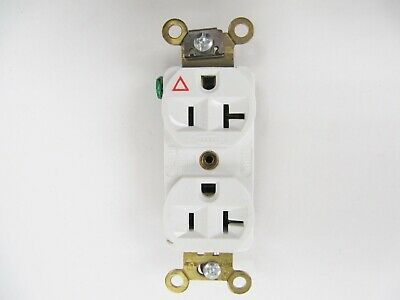 NEW Hubbell Kellems IG5362W White Isolated Groung Duplex Receptacle 20A 5-20R