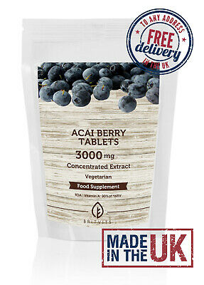 Acai Berry Extract 500mg Tablets UK Pills