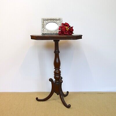 Antique Wine Table, Mahogany Pedestal Table, Victorian Side Table, C19th