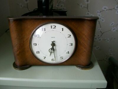 Vintage Smiths 8 Day Floating Balance Mantle Clock - Working.