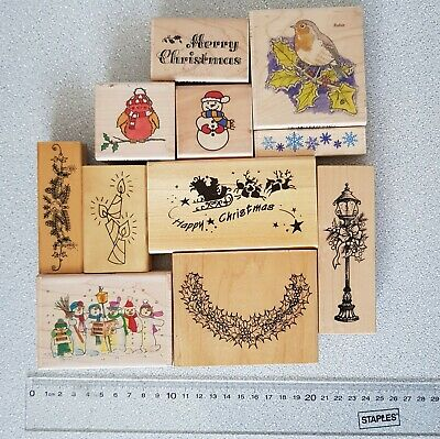 let it snow snowflake wooden stamp Christmas diy gift stamp decoration stamp GS