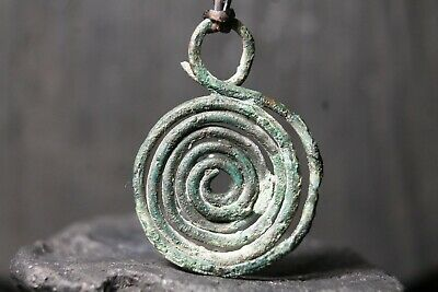 Rare Ancient Scythian Bronze Amulet, Ancient Greek Pendant, 10th-3th Century BC.