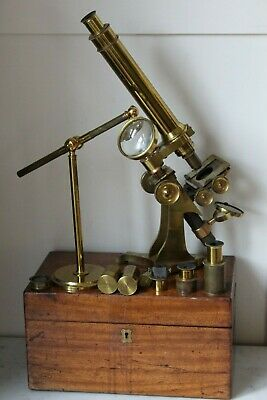 Superb Antique Andrew Ross Large Bar Limb Microscope Outfit Serial 2022