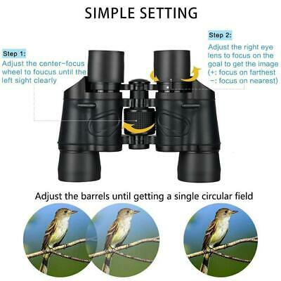 60X60Zoom Day/Night Vision Outdoor HD Binoculars Hunting Telescope Camping A8P5V