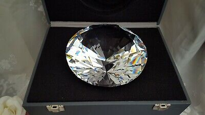 Ultra Rare Swarovski Crystal Giant 'Chaton' Paperweight Diamond 158924