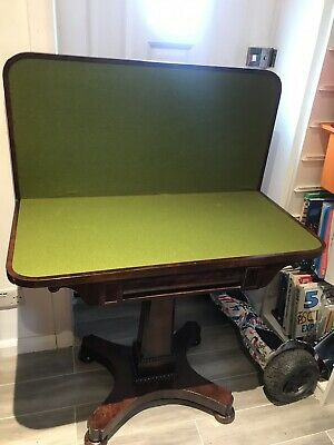 Antique / William Iv Rosewood  /  Card Table Circa 1835 / Games Table