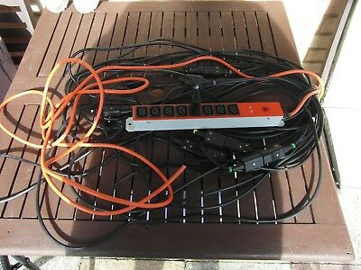 8 Way  Mains Distribution Unit Rack Mount With 8 Leads