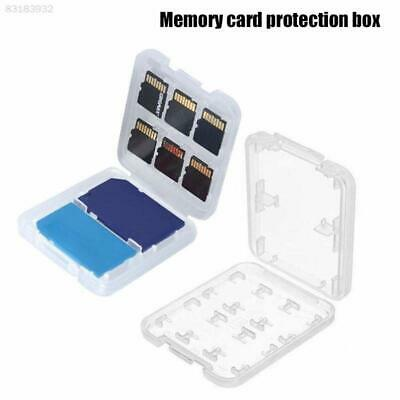 2 Packs of Plastic Memory Card Case Holds 6 Micro SD Cards,1 x SD & 1 x Pro Duo