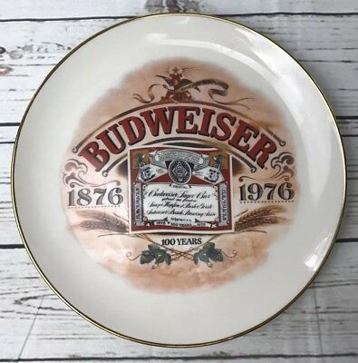 Vintage Budweiser Plate Limited Edition Centennial 100 Years 1976 Collector