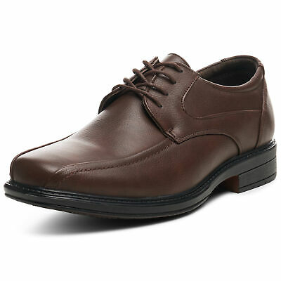 Alpine Swiss Mens Dress Shoes Brown Leather Lined Lace up Oxfords Size 11