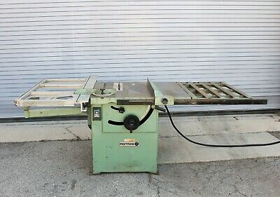 Poitras Sliding Table Saw, TS 121, 220 Voltage 3 Phase, Tilting Arbor