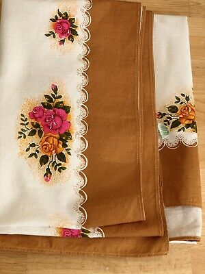 Royal Albert Old Country Roses Table Cloth, England, Made by Glencraft